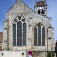L'ensemble choeur/transept et le clocher vus du sud (2015)