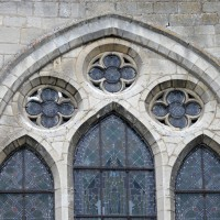 Vue partielle d'une fenêtre du mur sud du transept (2015)