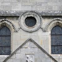 Vue partielle de la partie haute de la façade ouest (2015)