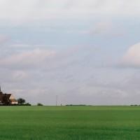 L'église dans son environnement vue du sud-est (2001)