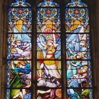 Vitrail de saint Michel dans le bras nord-ouest du transept (2003)