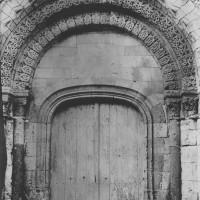 Le portail ouest avant son démontage (sans date)
