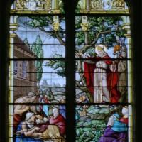 Vitrail représentant un évêque (2008)