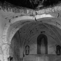 La voûte du choeur gothique vue vers l'est (1974)