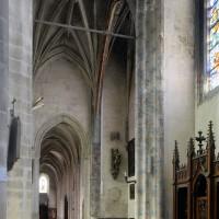 Le bras nord du transept vu vers l'ouest (2016)