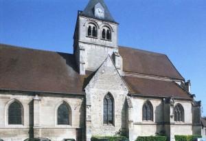 Vue partielle de l'église depuis le sud-ouest (2008)