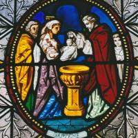 Vitrail des sacrements : le baptême (2003)
