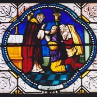 Vitrail des sacrements : l'eucharistie (2003)