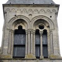 La face nord de l'étage du beffroi du clocher (2015)
