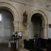 Les arcades du mur nord de la nef vues vers le nord-est (2017)