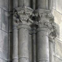 Retombée des voûtes au mur gouttereau nord de la chapelle nord du choeur (2017)