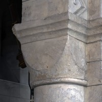 Chapiteau cubique de la seconde arcade du mur nord de la nef (2017)