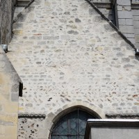 Vue de la partie supérieure du bras sud du transept roman (2015)