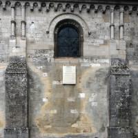 Vue partielle du mur du bas-côté sud de la nef (2015)