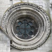 Rose à la façade ouest du bas-côté sud de la nef (2015)