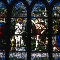 Vitrail du Baptême du Christ et de sainte Barbe (1997)