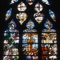Vitrail de la Fontaine de Vie et de l'Enfance de saint Etienne (1997)