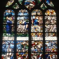 Vitrail de la Conversion de saint Paul et de la Vie de saint Pierre (1997)