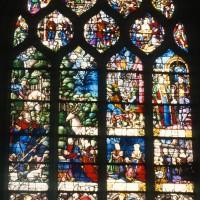 Vitrail de la Vie de saint Eustache et Christ de Douleur (1997)