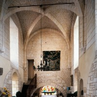 L'intérieur de la chapelle de l'Abbé vu vers l'est (1997)
