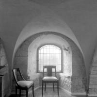 Le choeur roman de la chapelle de l'Abbé vu vers le sud (1997)
