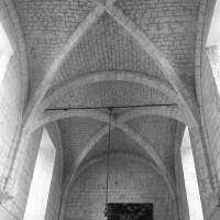 Voûtes gothique tardif de la chapelle de l'Abbé vues vers l'est (1997)