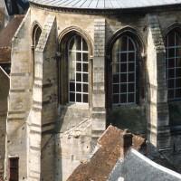 L'abside vue du nord-est depuis les parties hautes de la cathédrale (1982)