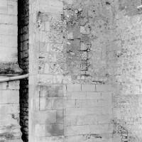 Extrémité est du mur gouttereau nord de la nef (1975)
