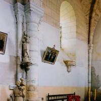 Le mur nord de la seconde travée du choeur vu vers le nord-est (2003)