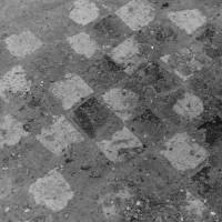 Détail de carrelage en place (photo Jean-Pierre Paquet, 1961)
