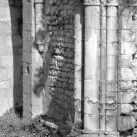 Vue partielle du mur nord de la tribune de la chapelle (1980)