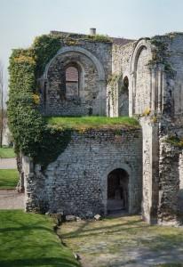 Vue partielle de la chapelle et de sa tribune vers le nord-ouest (1991)