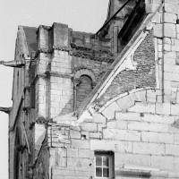 Les vestiges du clocher vus du nord-ouest (1974)