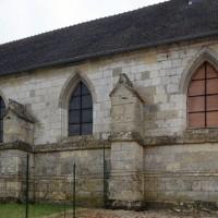 Le mur nord de la nef vu du nord-ouest (2016)