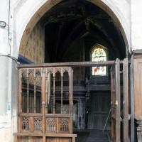 L'entrée de la chapelle seigneuriale (2016)