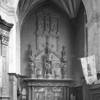 Le retable sculpté du bas-côté sud