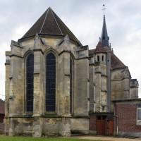 Le choeur et le transept vus du nord-est (2016)