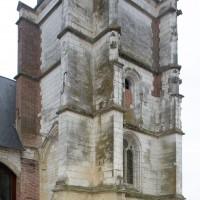 Le clocher vu depuis le nord-est (2016)