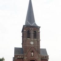 La façade de l'église vue de l'ouest (2016)