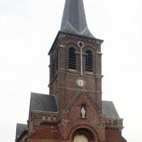 La façade de l'église vue du nord-ouest (2016)