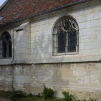 Vue partielle de l'extrémité ouest du mur gouttereau sud de la nef (2016)