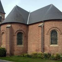 Le transept et le choeur vus du sud-est (2016)
