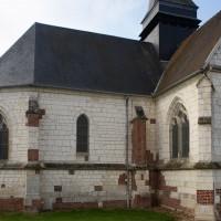 Le choeur et le bras nord du transept vus depuis le nord-est (2016)