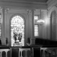La chapelle vue vers le sud-est depuis la tribune (2000)