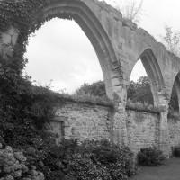 Les arcades du mur gouttereau sud de la nef (1995)