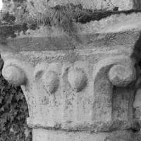 Le chapiteau de la pile circulaire de l'arcade sud de la première travée de la nef (1996)