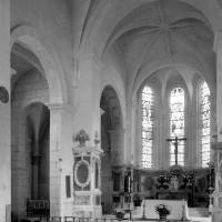Le choeur et la chapelle nord vus  vers le nord-est (1979)