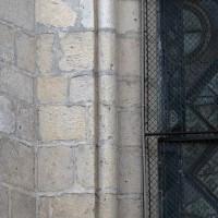 Colonnette au piédroit de la fenêtre nord de l'abside (2017)