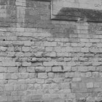 Détail du mur d'enceinte de l'abbaye (1992)