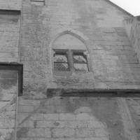 Vue partielle du mur-pignon nord de l'aile ouest (1992)